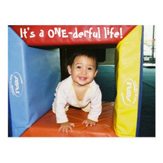 6673690-R1-006-1A, It's a ONE-derful life! Postcard