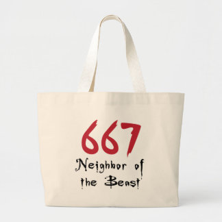 667 Neighbor of the Beast Canvas Bags