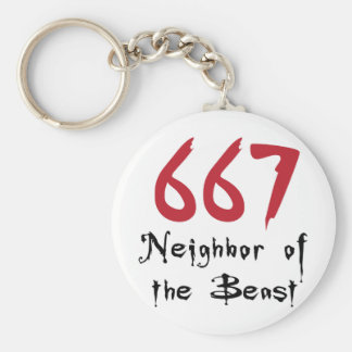 667 Neighbor of the Beast Keychain