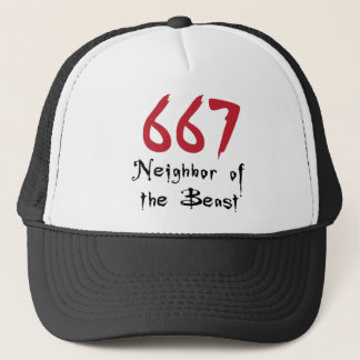 667 Neighbor of the Beast Trucker Hat