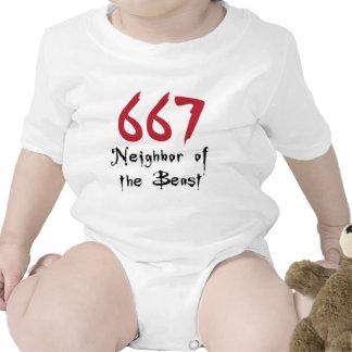 667 Neighbor of the Beast T-shirts