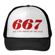 667 - One step Ahead OF The Devil Trucker Hat