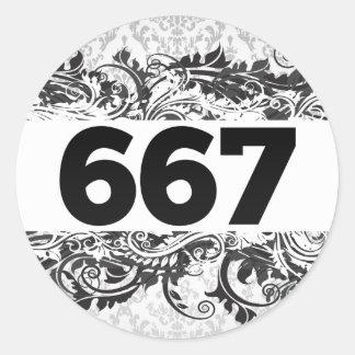 667 PEGATINA REDONDA