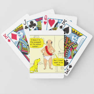 668 New Year Old man cartoon Bicycle Playing Cards