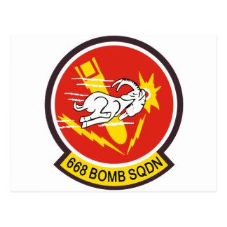 668o Escuadrilla de la bomba Postales