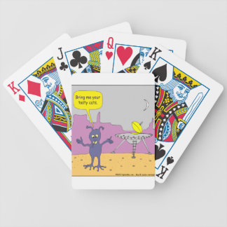 669 bring me your tasty cats cartoon bicycle playing cards