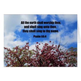 66 4 del salmo tarjeta