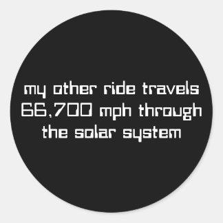 66,700 mph through the solar system sticker