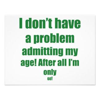 66 Admit my age Custom Invites