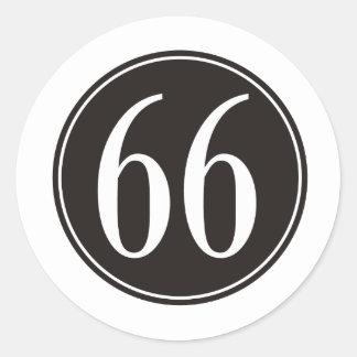 66 Black Circle Stickers