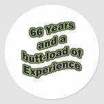 66 butt-load classic round sticker