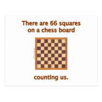 66 Chess Squares Post Card