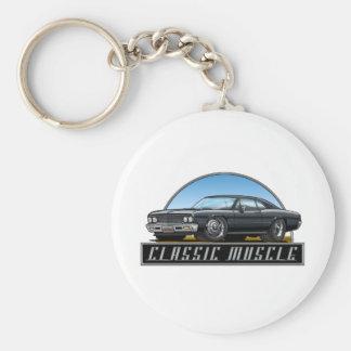 66 Chevelle Black Keychain