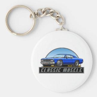 66_Chevelle_Blue Keychain