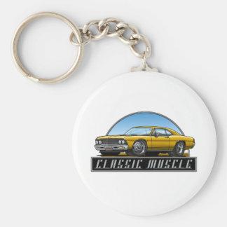 66_Chevelle_Gold Keychain