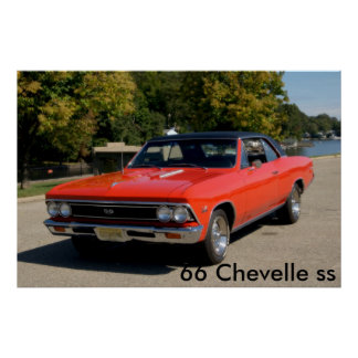 66 Chevelle ss Poster