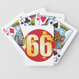 66 CHINA Gold Bicycle Playing Cards