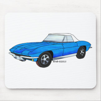 66 Corvette Roadster Mouse Pad