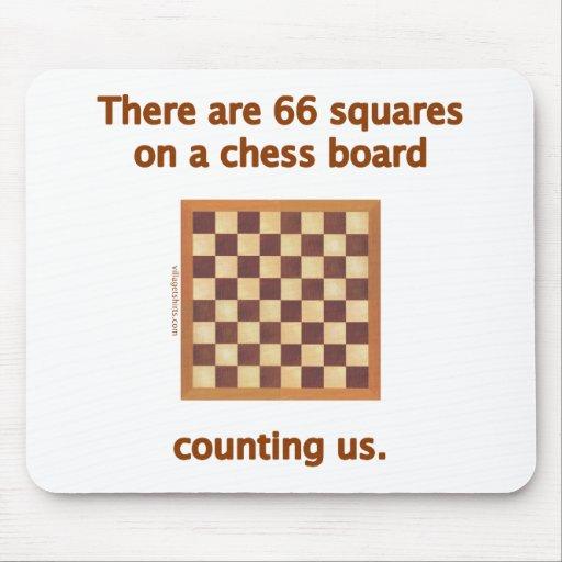 66 cuadrados del ajedrez alfombrilla de raton