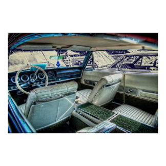 '66 Dodge Charger Interior Poster