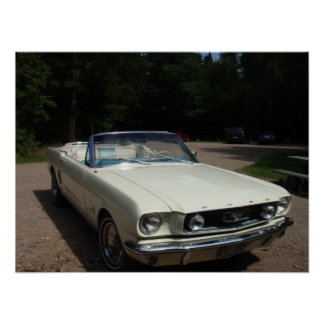 '66 Mustang Cabriolet Poster