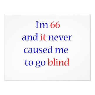 66 never gone blind personalized invite