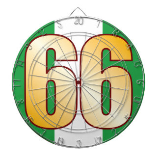 66 NIGERIA Gold Dartboard With Darts
