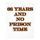 66 ninguna hora de prisión membrete a diseño
