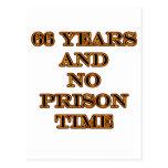 66 ninguna hora de prisión tarjetas postales