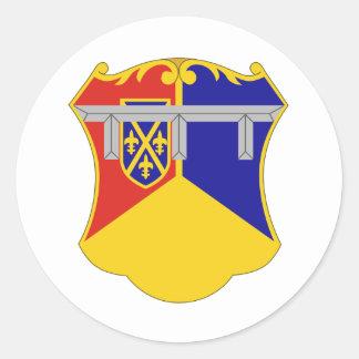 66.o Regimiento de la armadura Pegatina Redonda