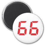66 sesenta y seis números digitales del despertado imán de frigorifico