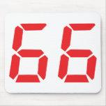 66 sesenta y seis números digitales del despertado alfombrilla de raton