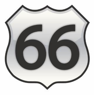 66 sign photo sculpture ornament