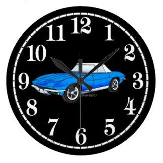 66 Vette - White Dial Wall Clock