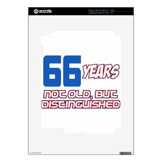 66 YEARS OLD BIRTHDAY DESIGNS iPad 2 SKIN