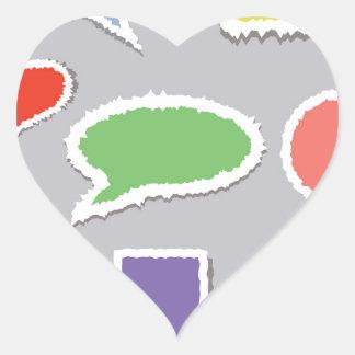 66Speech Bubbles_rasterized Heart Sticker