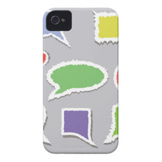 66Speech Bubbles_rasterized iPhone 4 Case-Mate Case