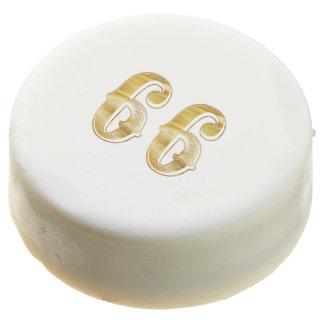 66th Anniversary 66 Birthday Gold White Cookie