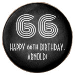 "[ Thumbnail: 66th Birthday - Art Deco Inspired Look ""66"", Name ]"