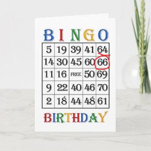 66th Birthday Bingo Card
