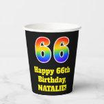 [ Thumbnail: 66th Birthday: Colorful, Fun, Exciting, Rainbow 66 ]