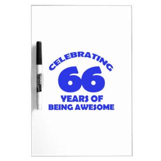 66th birthday  designs Dry-Erase boards