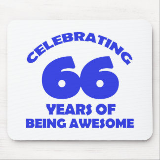 66th birthday  designs mouse pad