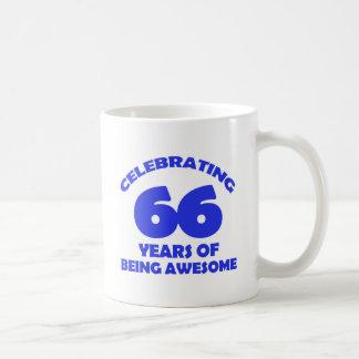 66th birthday  designs classic white coffee mug