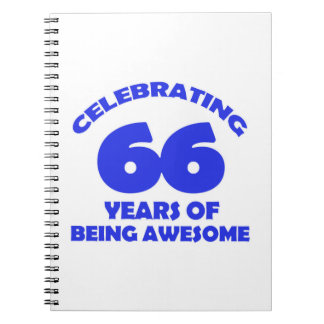 66th birthday  designs note books