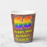 [ Thumbnail: 66th Birthday: Fun Graffiti-Inspired Rainbow 66 ]