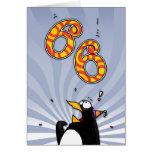 66th Birthday - Penguin Surprise Card