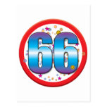66th Birthday v2 Postcard