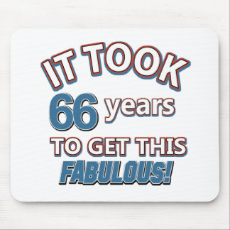 66th year birthday designs mouse pad