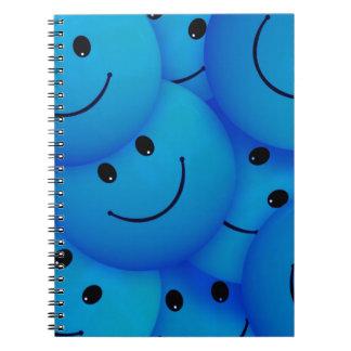 67198 smiles smiley face cartoon smile team blue spiral notebook